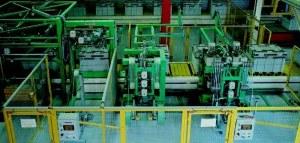 Balicí linka pro páskování prefabrikátů